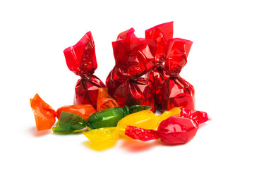 candy in wrapper isolated