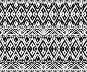 ikat and tribal horizontal border pattern