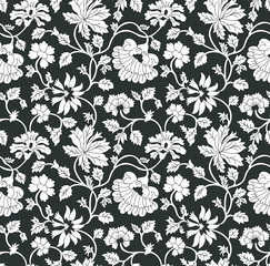 seamless flower  paisley pattern