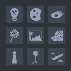 Premium set of fill icons. Such as cake, health, face, model, picture, web, bakery, chess, muffin, map, pin, cupcake, strategy, flight, care, beautiful, game, location, airplane, food, departure, skin