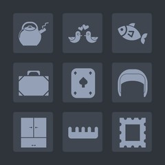 Premium set of fill icons. Such as poker, hair, care, photo, beauty, fashion, pigeon, kitchen, sign, dove, picture, play, style, bird, helmet, handle, couple, tea, food, drink, fishing, romantic, bag