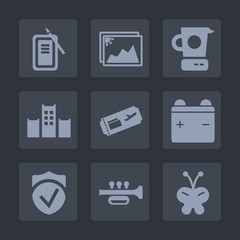 Premium set of fill icons. Such as security, sound, pen, japanese, equipment, culture, music, pan, photo, paper, butterfly, white, ink, travel, suzuri, picture, kitchen, tool, air, inkstone, draw, old