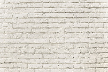 White brick wall background texture