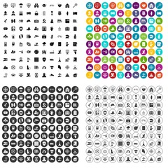 100 safety icons set vector in 4 variant for any web design isolated on white