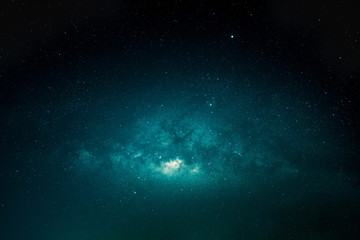 Landscape of the vast sky at night with milky way and various starry, Blue and dark sky at night with milky way galaxy