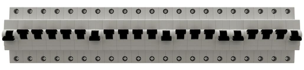 interruttore elettrico, illustrazione 3d
