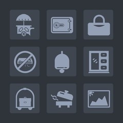 Premium set of fill icons. Such as car, home, interior, photo, frame, van, hotel, picture, business, fitness, money, sweet, vehicle, vacation, finance, heater, no, cabinet, water, sign, food, truck