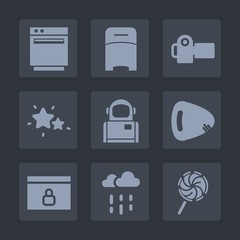 Premium set of fill icons. Such as water, rainy, website, weather, photography, cosmos, wet, rain, appliance, bed, lock, interior, technology, stove, domestic, oven, photographer, furniture, bedroom