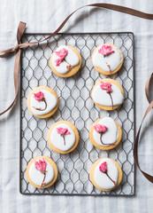桜のアイシングクッキー