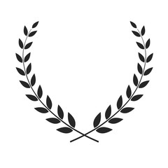 Vector laurel wreath isolated