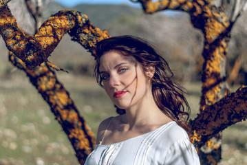 Sesión fotográfica de la modelo en Cumbres Verdes, Granada
