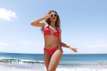 3d rendering of sexy woman in bikini,lifestyle concept and ideas