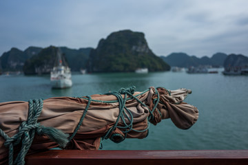 The Halong Bay in Vietnam.