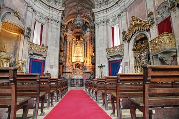 Clérigos Church interior, Porto, Portugal