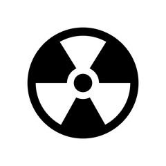 radiation symbol vector flat