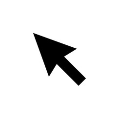 Pointer Icon in trendy flat style isolated on wkite background. Cursor arrow symbol for your web site design, logo, app, UI. Vector illustration