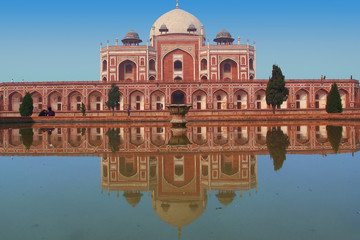 Deurstickers Delhi Humayun's tomb in New Delhi, India