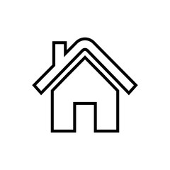 home line icon vector
