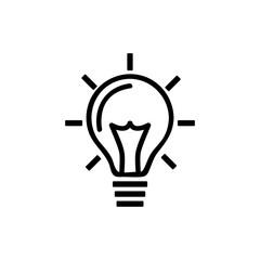 Idea bulb vector icon, creative lamp symbol. Modern, simple flat vector illustration for web site or mobile app