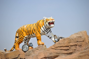 Tiger statue in Harbin, China Wall mural