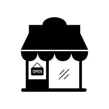 Shop building icon illustration isolated vector sign symbol