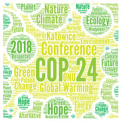 COP 24 in Katowice, Poland word cloud