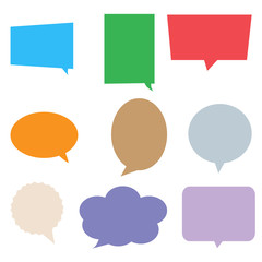 speech bubbles in pop art style. colorful set dialog box on white background. comic empty balloon. speech bubbles sign.