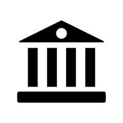 University, flat icon isolated on white background