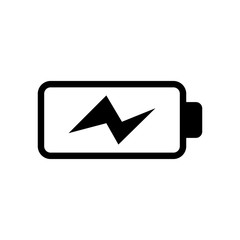 Battery load icon, vector illustration. Flat design eps 10