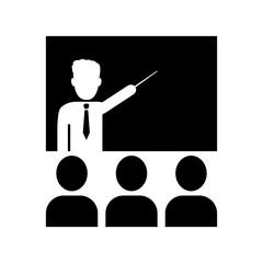 Vector image teacher icon.