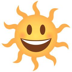 Emoji lachend - Sonne