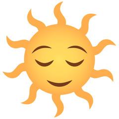 Emoji zufrieden - Sonne