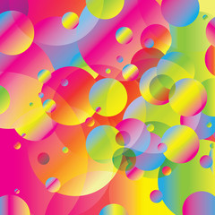 Colorful Rainbow Bubbles Abstract Background