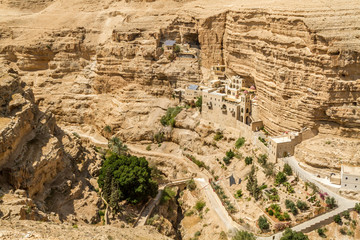 The Wadi Qelt, Monastery of St. George in Israel