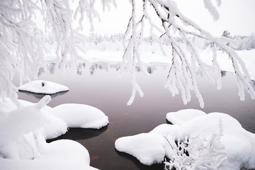 River view on the winter