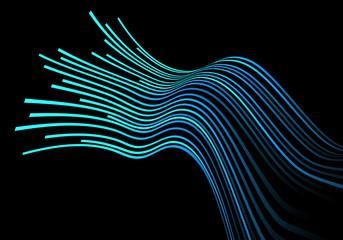 Abstract blue light line curve on black design modern futuristic background vector illustration.