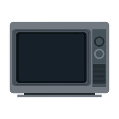 Old tv cartoon vector illustration graphic design