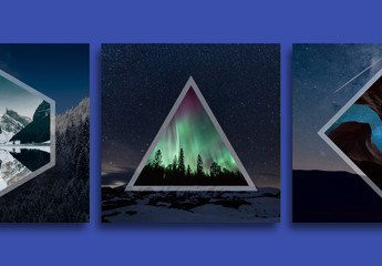 Geometric Social Media Photo Overlays