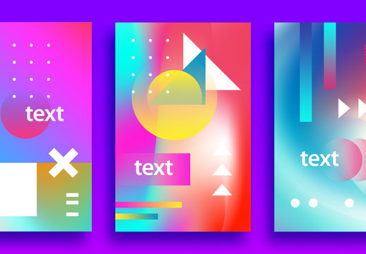 3 Colorful Event Poster Layouts