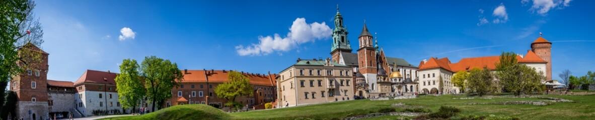 Panorama du château du Wawel et Basilique Cathédrale Saints-Stanislas-et-venceslas de Cracovie