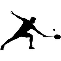 Man Badminton silhouette, Male Badminton clipart Boy Badminton sports vector, Boys Badminton Svg, png, eps,   jpg