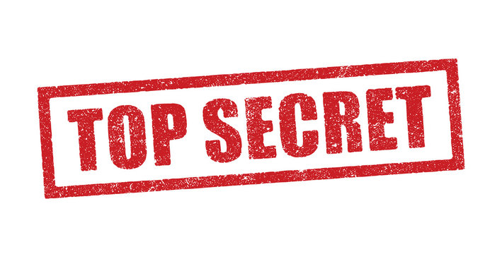Top Secret in red ink stamp