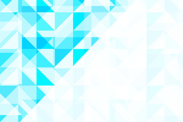 Blue geometric abstract pattern background vector design.