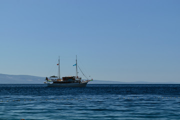 Boat on Adriatic Sea