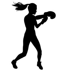 Woman Boxing silhouette, Female Boxing clipart, Girl Boxing sports vector, Girls Boxing Svg, png, eps,   jpg