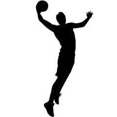 Basketball silhouette, Basketball player clipart, Basketball sports vector, Svg, png, eps,   jpg