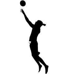 Man Beach Volleyball silhouette, Male Beach Volleyball clipart, Boy sports vector, Boys Svg, png, eps,   jpg