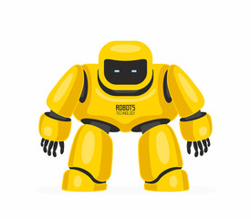 Yellow robot. isolated on white background