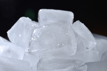 Beautiful ice cubes. Frozen water, ice, cubes, close-up