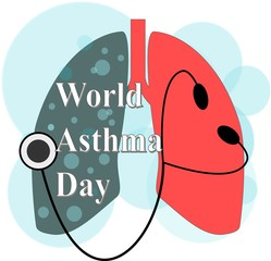 Vector illustration of a Banner for World Asthma Day